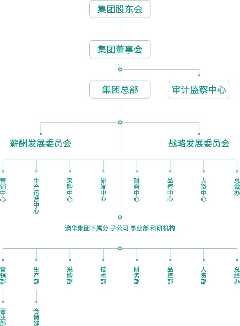 澳华集团组织架构